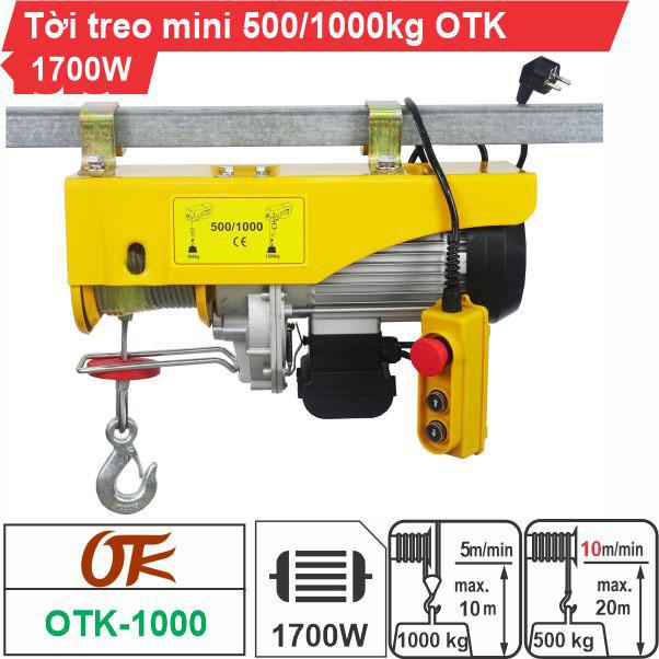 Máy tời điện mini 500-1000kg OTK