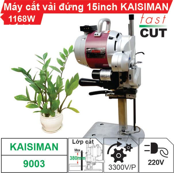 Máy cắt vải đứng 15 inch Kaisiman 1168W KSM-9003