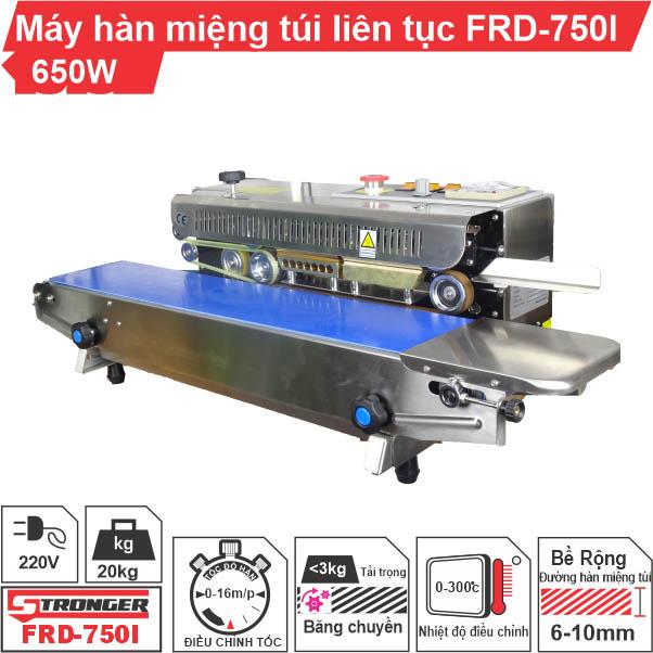 Máy hàn miệng túi liên tục FRD-750-IN Stronger vỏ inox