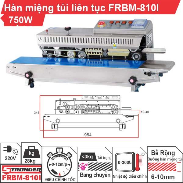 Máy hàn miệng túi liên tục có in date FRBM-810I Stronger