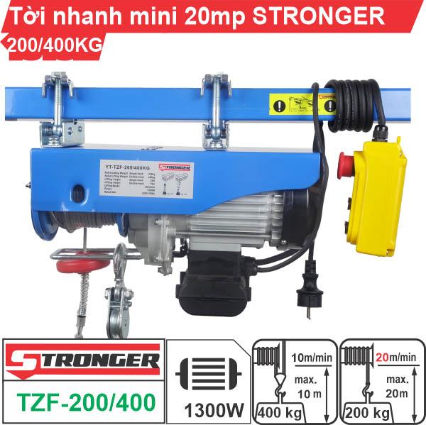 Máy tời điện nhanh mini 200-400kg 20m/p Stronger TZF-200/400