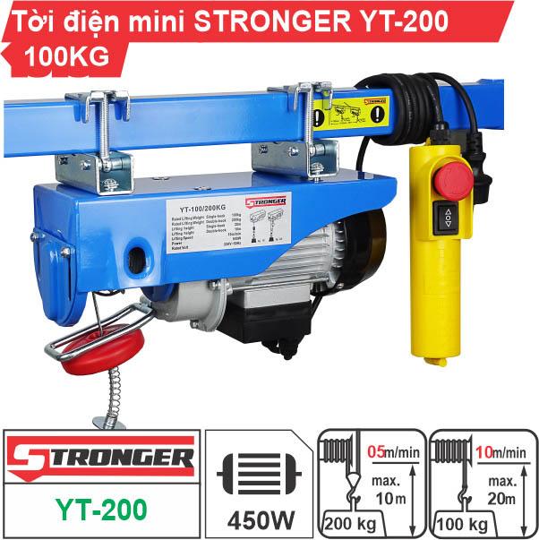 Máy tời điện mini 100-200kg Stronger YT-200B
