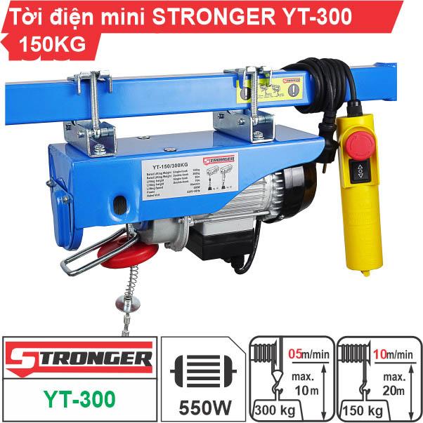 Máy tời điện mini 150-300kg Stronger YT-300B
