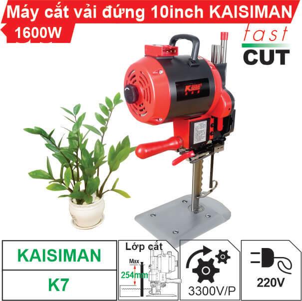 Máy cắt vải đứng 10 inch Kaisiman K7 (Màn hình điện tử)