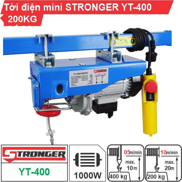 Máy tời điện mini 200-400kg Stronger YT-400B
