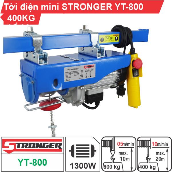 Máy tời điện mini 400-800kg Stronger YT-800B