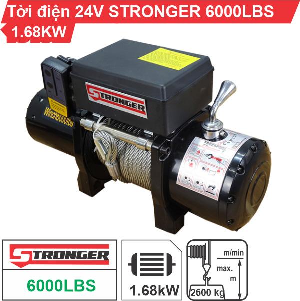 Tời điện 24V 6000Lbs Stronger