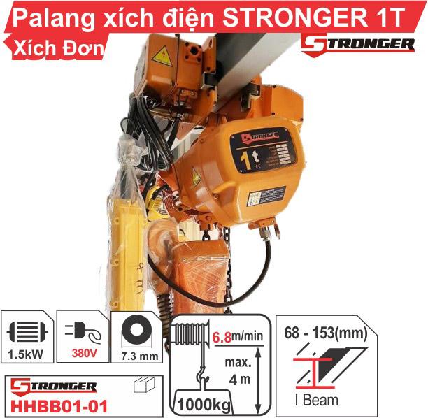 Palang xích điện 1 tấn Stronger (dịch chuyển)