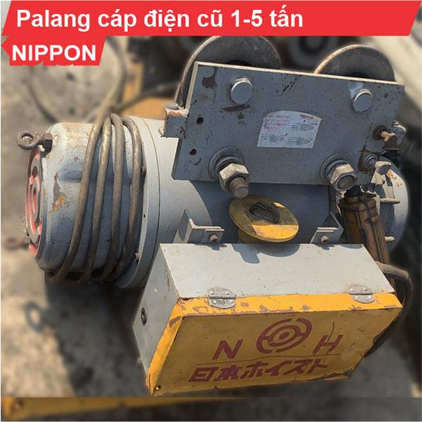 Palang cáp điện Nippon 1 tấn-5 tấn cũ dịch chuyển