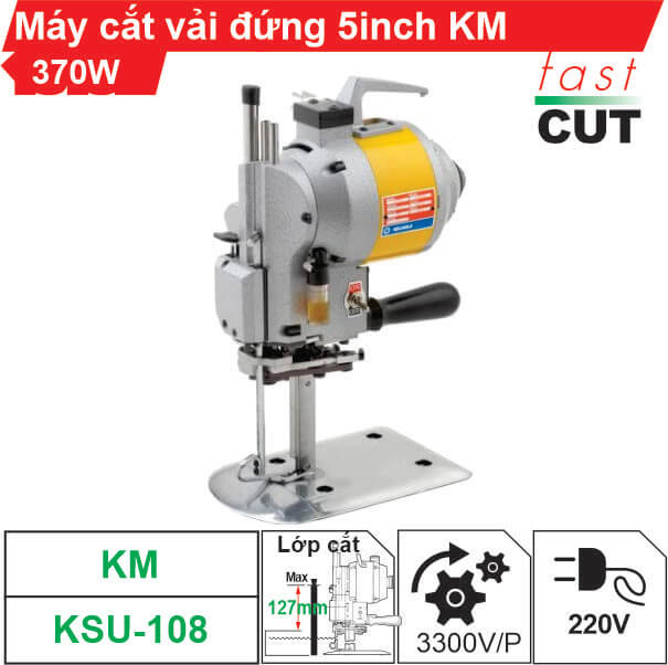 Máy cắt vải đứng 5 inch KM 370W