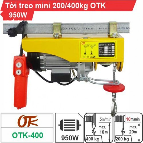 Máy tời điện mini 200-400kg OTK