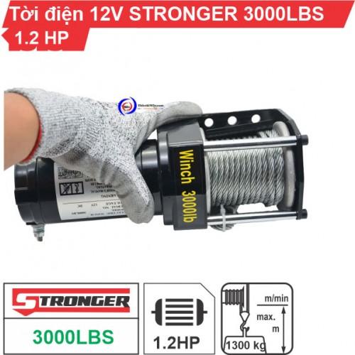Tời điện 12V 3000Lbs (1363kg) Stronger