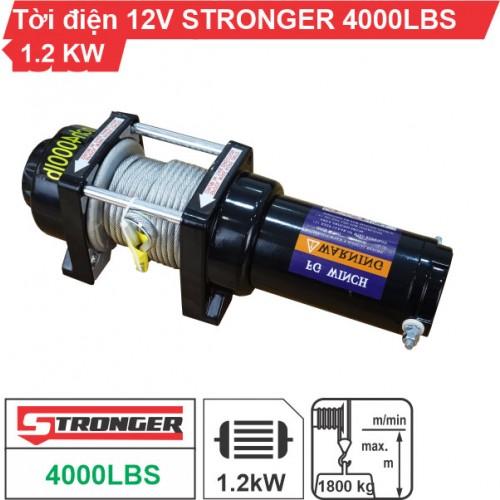 Tời điện 12V 4000Lbs (1816kg) Stronger