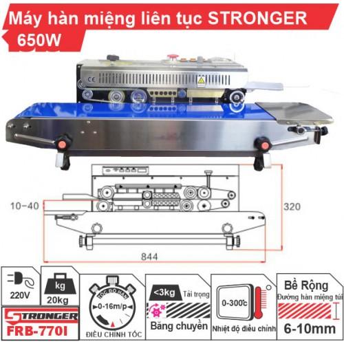 Máy hàn miệng túi liên tục FRB-770I Stronger vỏ inox