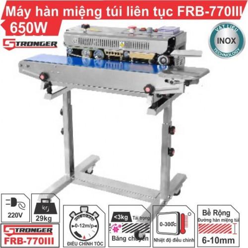 Máy hàn miệng túi liên tục FRB-770III Stronger có chân đứng