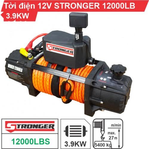 Tời điện 12V 12000Lbs (5443kg) Stronger mẫu mới