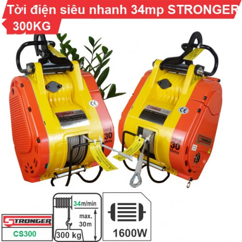 Máy tời điện nhanh 300kg 34m/phút Stronger CS-300