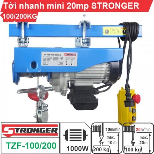 Máy tời điện nhanh mini 100-200kg 20m/p Stronger TZF-100/200