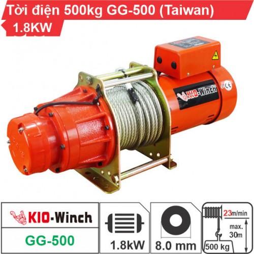 Máy tời nhanh xây dựng 500kg 23m/phút KIO Winch GG-500