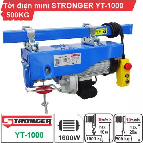 Máy tời điện mini 500-1000kg Stronger YT-1000B