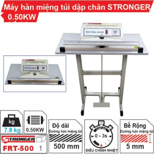 Máy hàn miệng túi dập chân FRT-500 Stronger