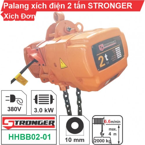 Palang xích điện 2 tấn Stronger (cố định)
