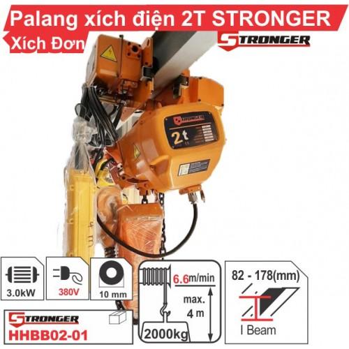 Palang xích điện 2 tấn Stronger (dịch chuyển)