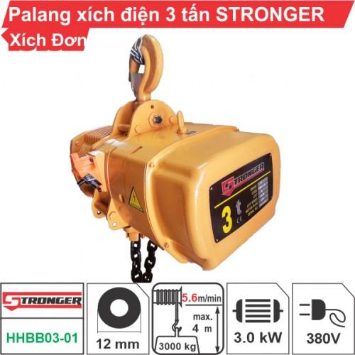 Palang xích điện 3 tấn Stronger (cố định)