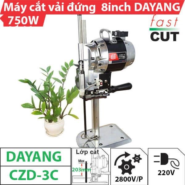 Máy cắt vải đứng 8 inch Dayang 750W (Có đèn)