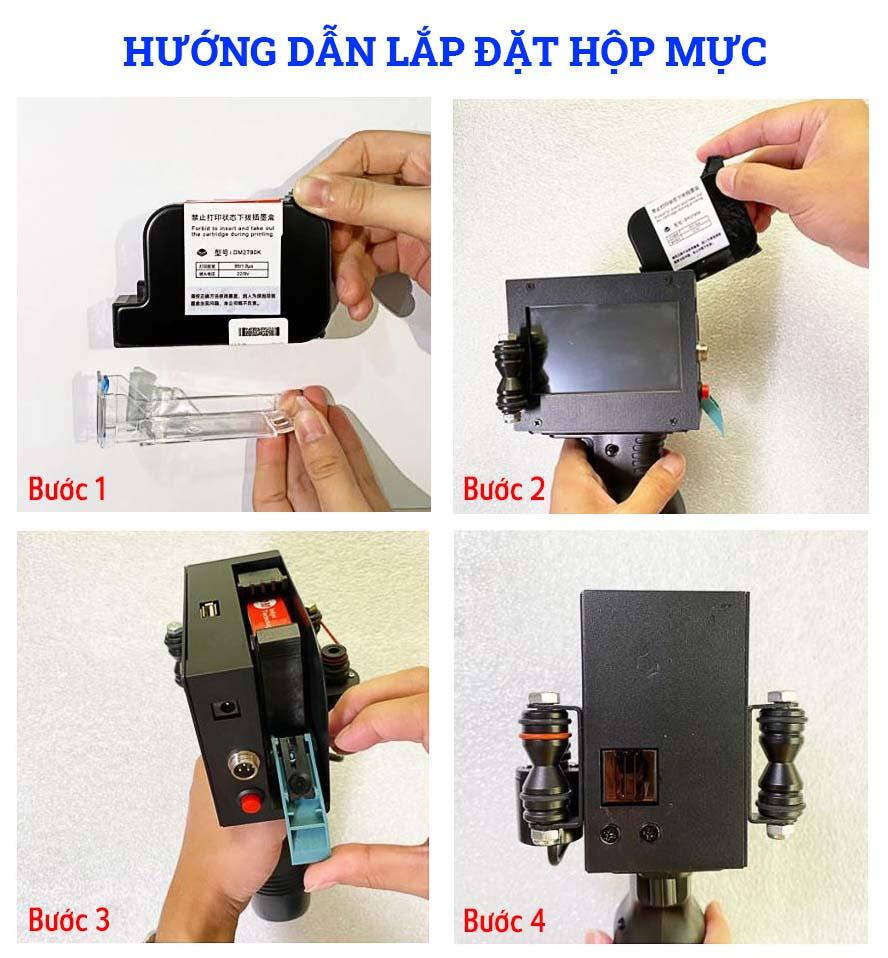 Hướng dẫn lắp đặt hộp mực máy in date MX3