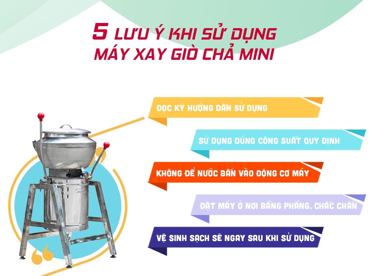 lưu ý sử dụng máy xay giò chả mini