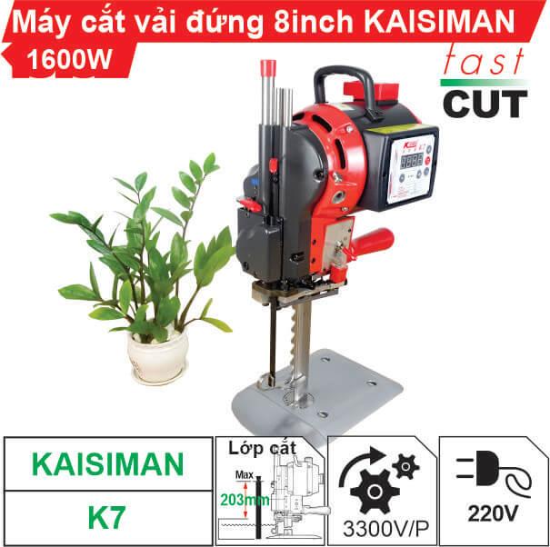 Máy cắt vải đứng 8 inch Kaisiman K7 màn hình điện tử