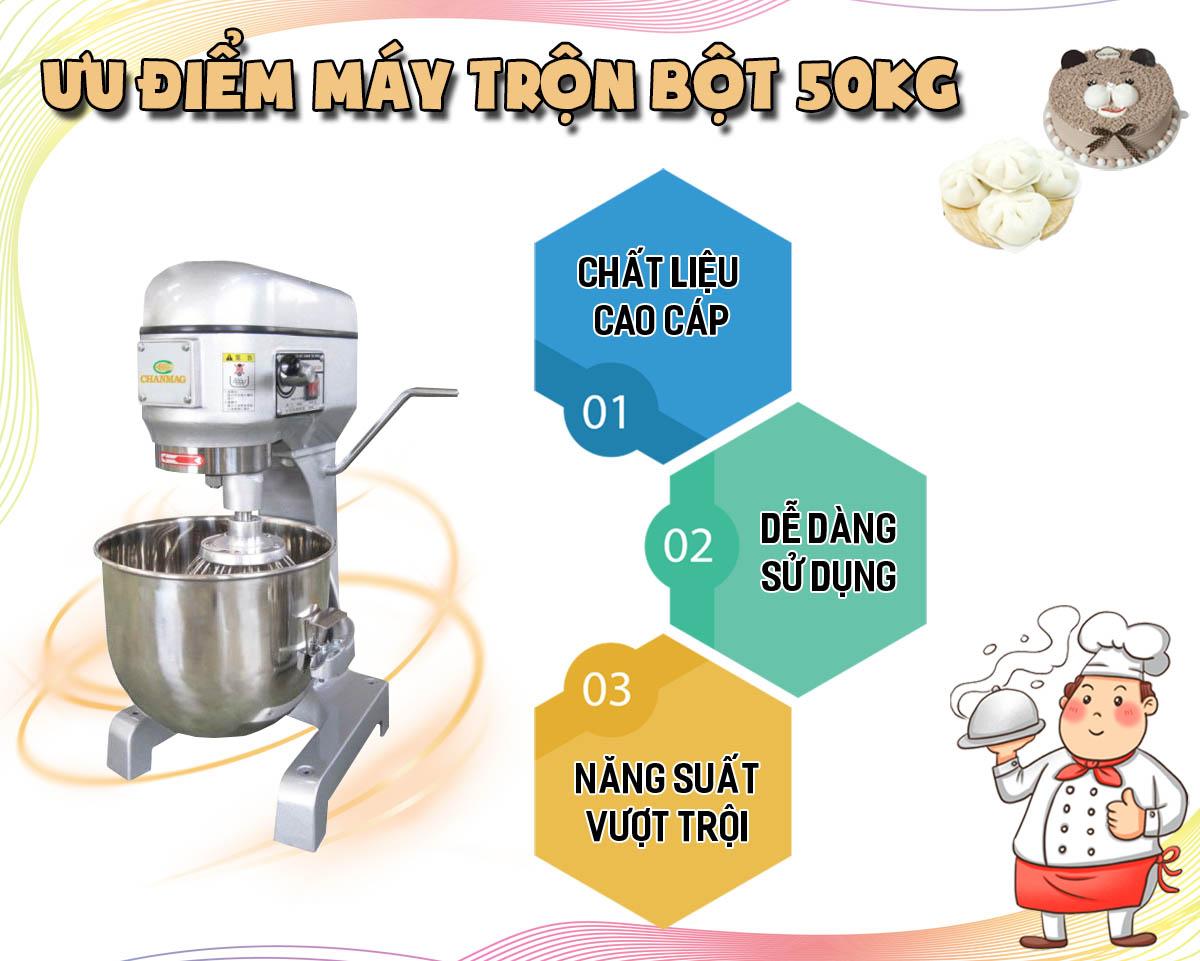 ưu điểm máy trộn bột 50kg