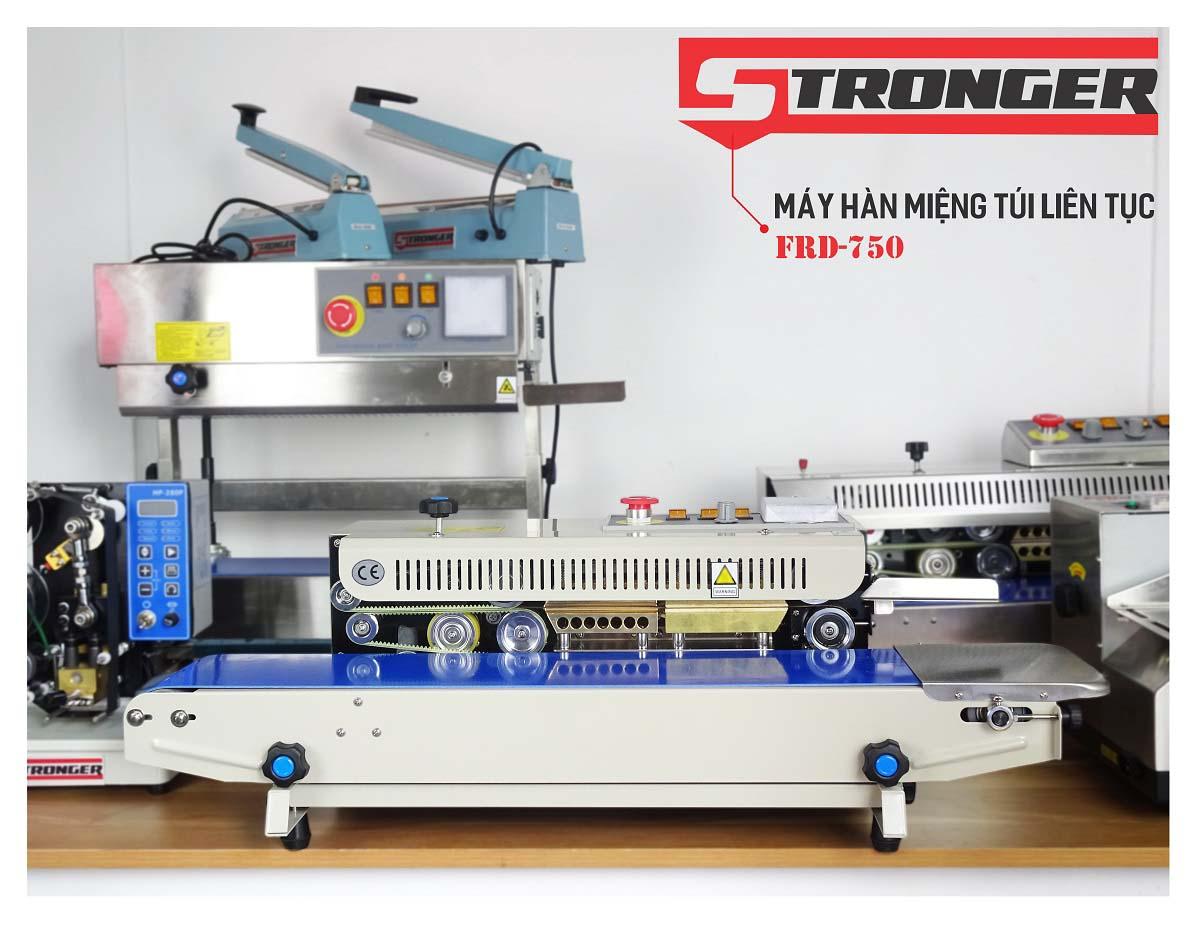 Máy hàn miệng túi liên tục FRD-750-VS Stronger vỏ sơn tĩnh điện