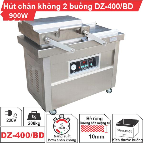 Máy hút chân không công nghiệp buồng đôi DZ-400/BD