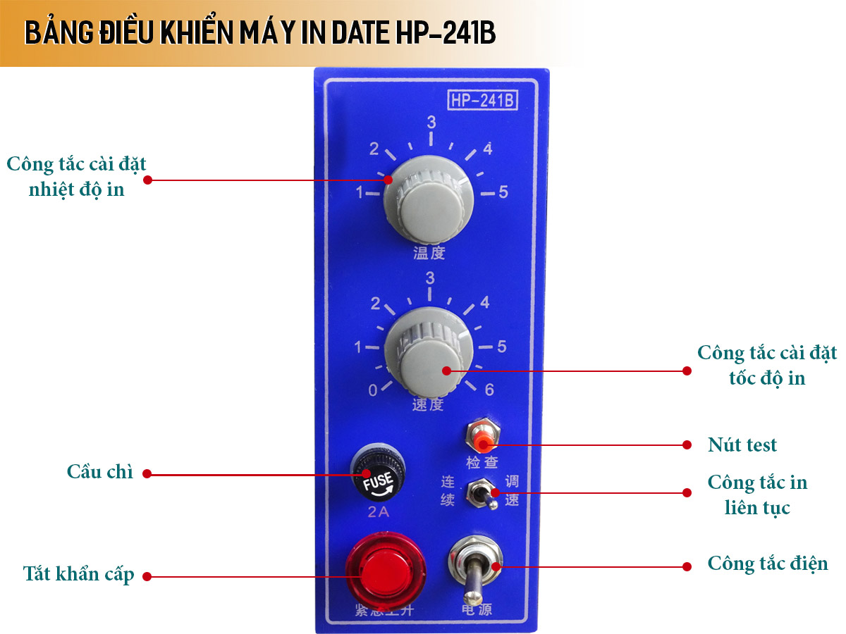 Máy in date bán tự động HP-241B