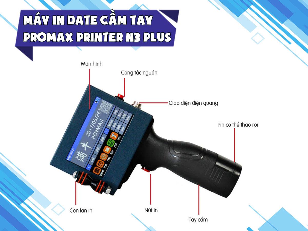 Máy in date cầm tay Promax N3 Plus