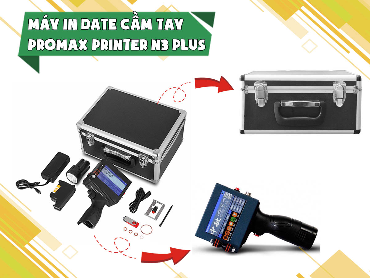 Máy in date cầm tay Promax Printer N3 Plus