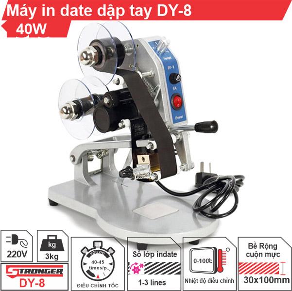 Máy in date dập tay DY-8