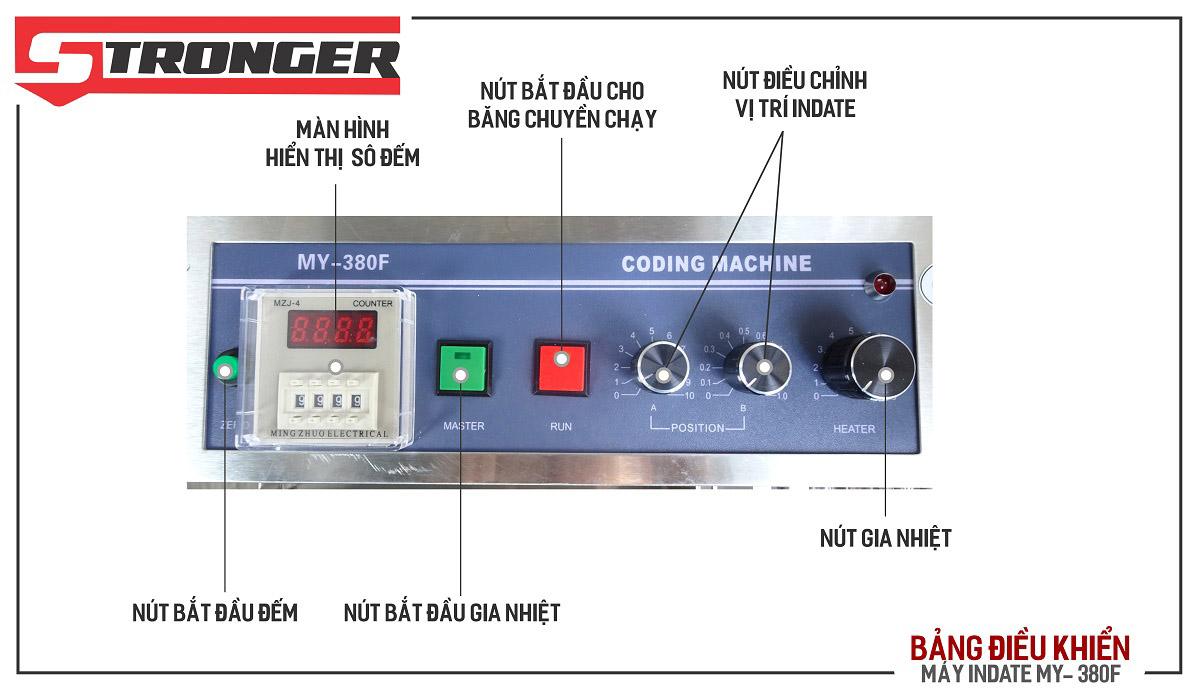 Bảng kí tự máy in date tem nhãn tự động MY-380F Stronger