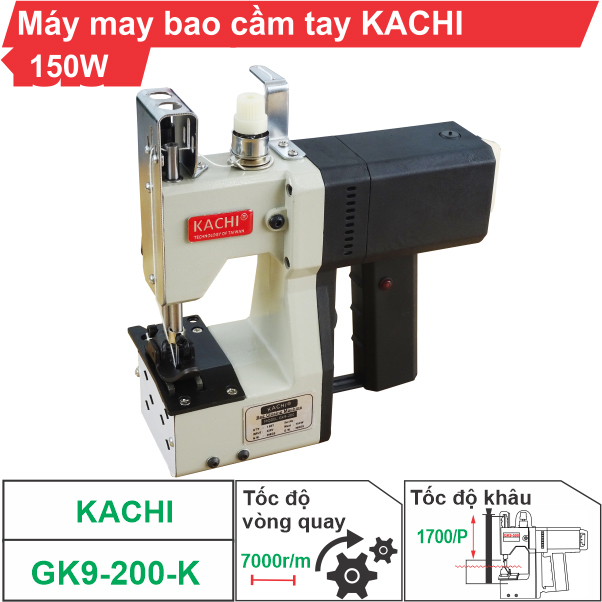 Máy may bao cầm tay KACHI-GK9-200-K