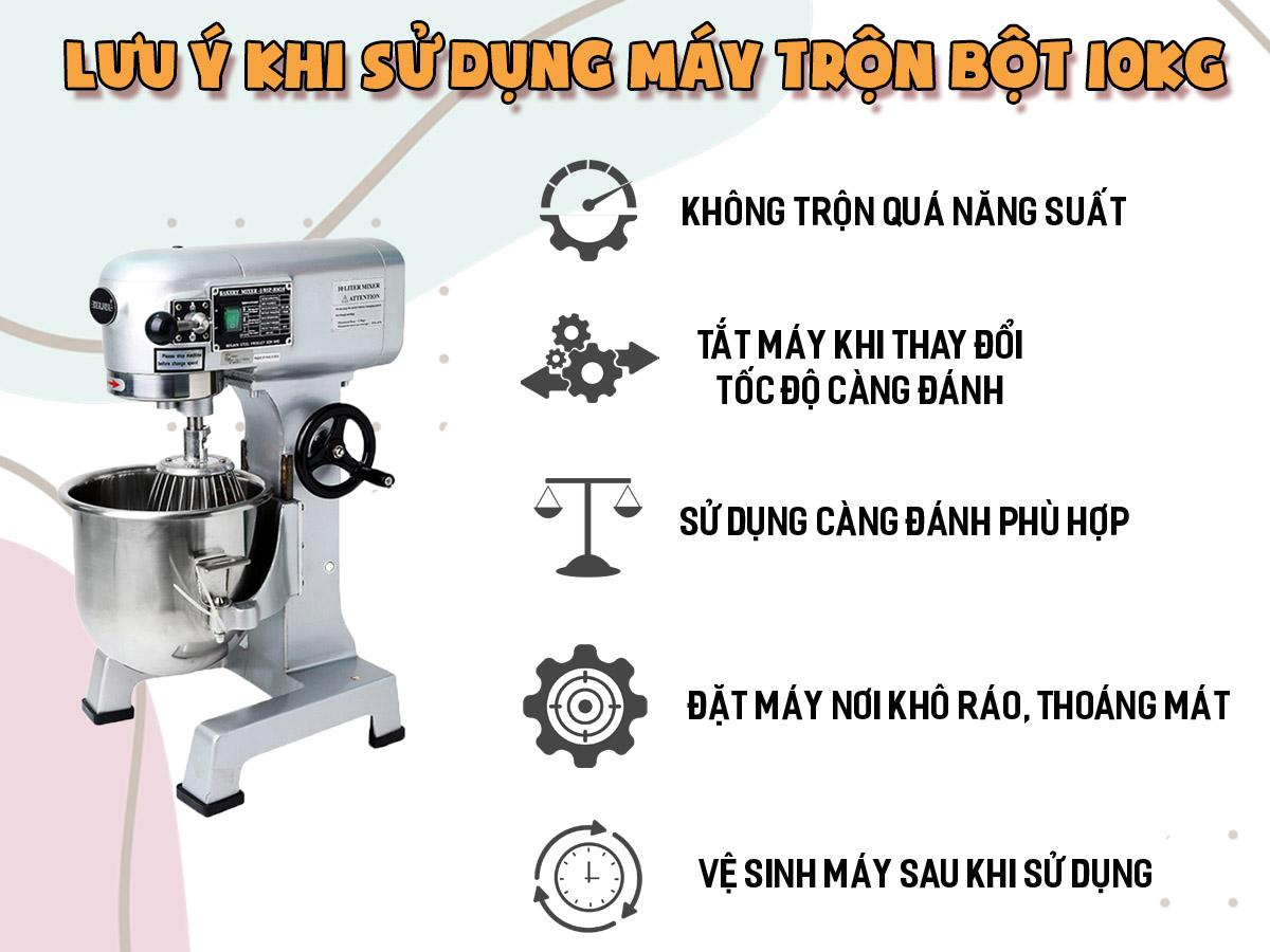 lưu ý khi sử dụng máy trộn bột 10kg