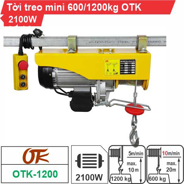 Máy tời điện mini 600-1200kg OTK