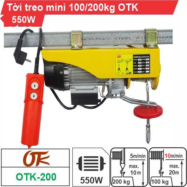 Máy tời điện mini 200kg OTK