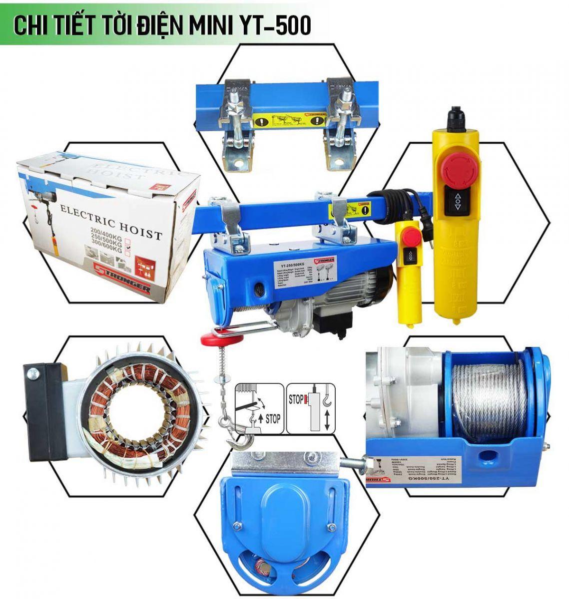 Máy tời điện mini 250-500kg Stronger YT-500B