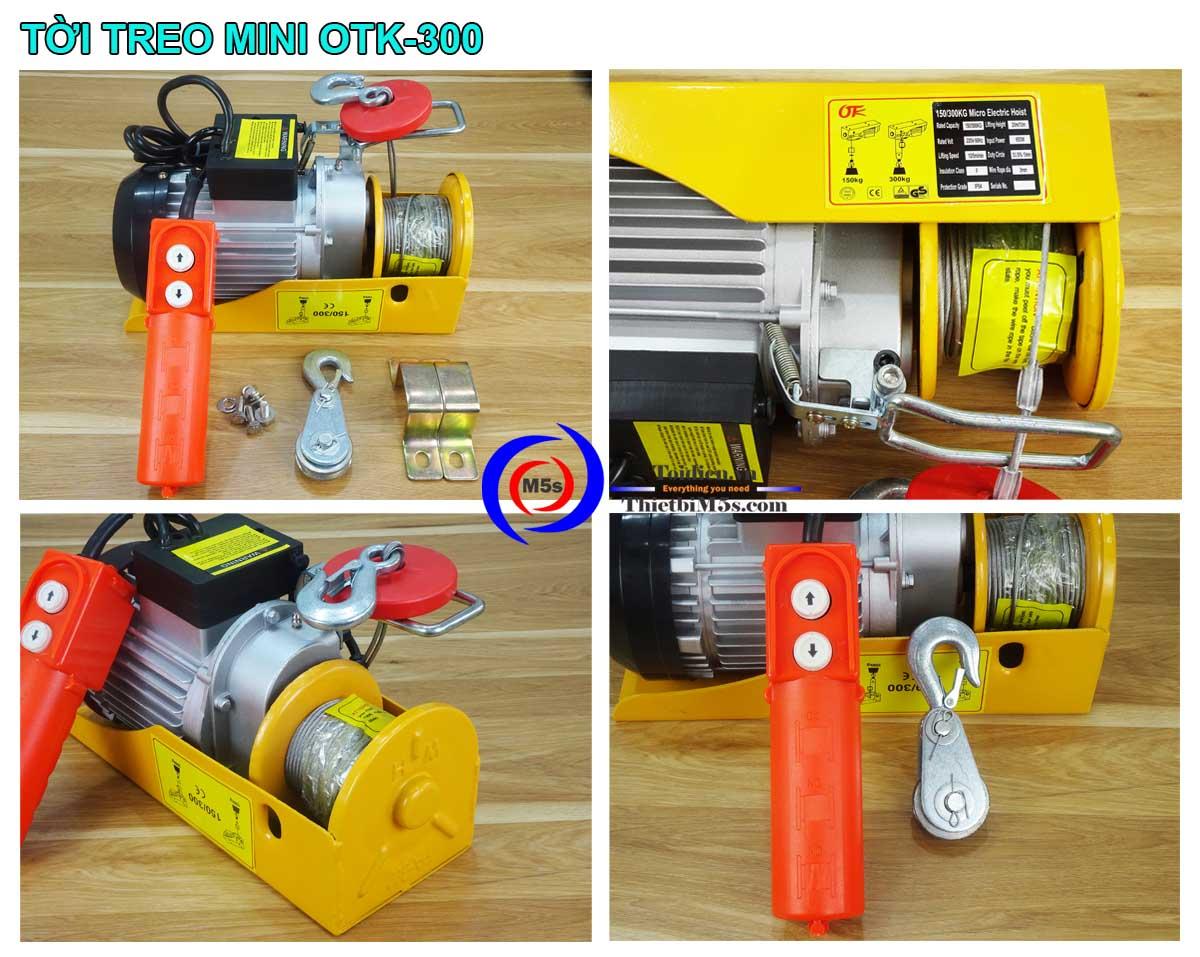 Máy tời điện mini 150-300kg OTK