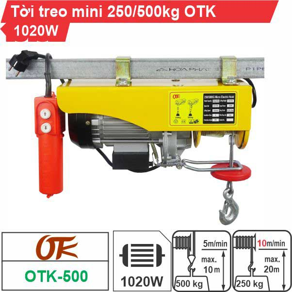 Máy tời điện mini 250-500kg OTK