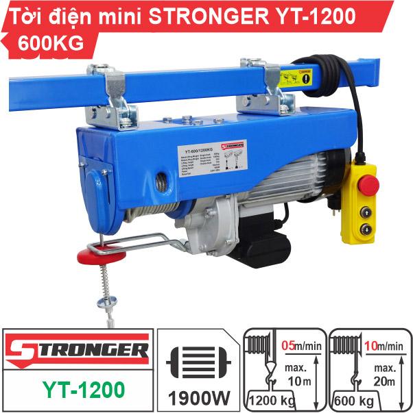 Máy tời điện mini 600-1200kg Stronger YT-1200