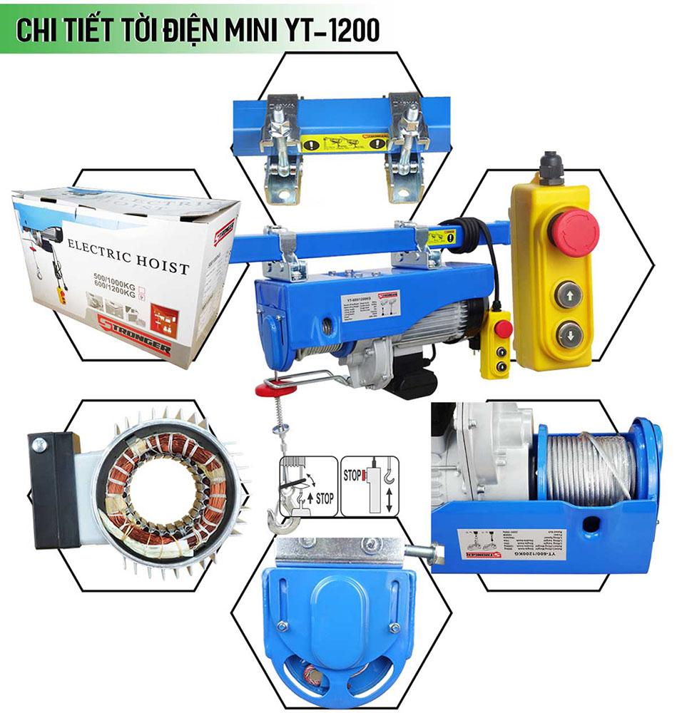 Máy tời điện mini 600-1200kg Stronger YT-1200B