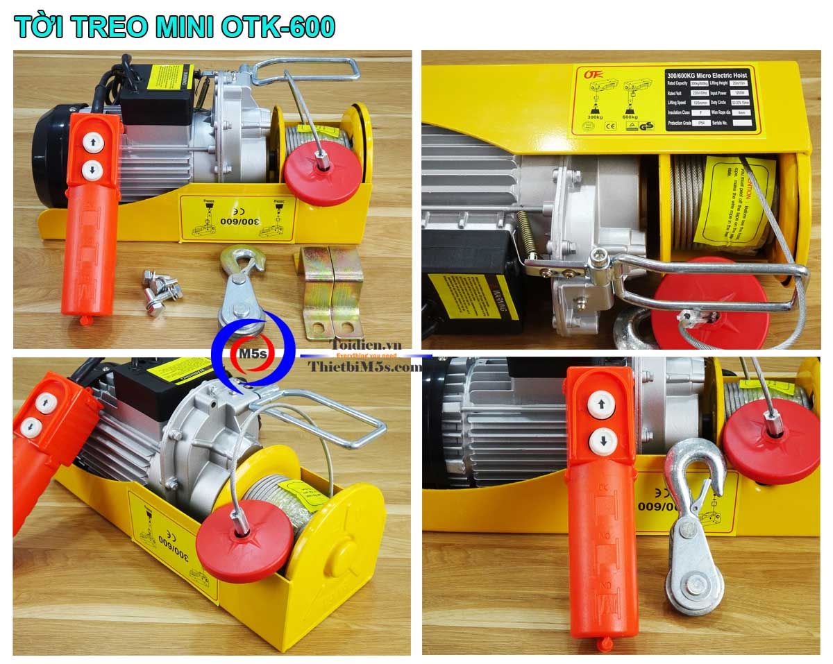Máy tời điện mini 300-600kg OTK